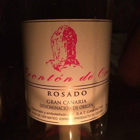 S.A.T. Camaretas Frontón de Oro Rosado Gran Canaria Rosé Blend 2016