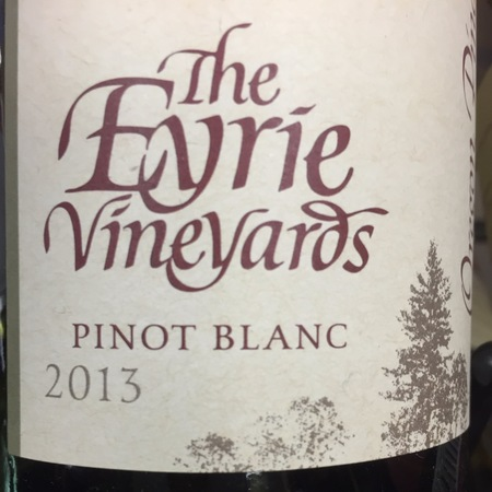 The Eyrie Vineyards  Oregon Pinot Blanc 2015