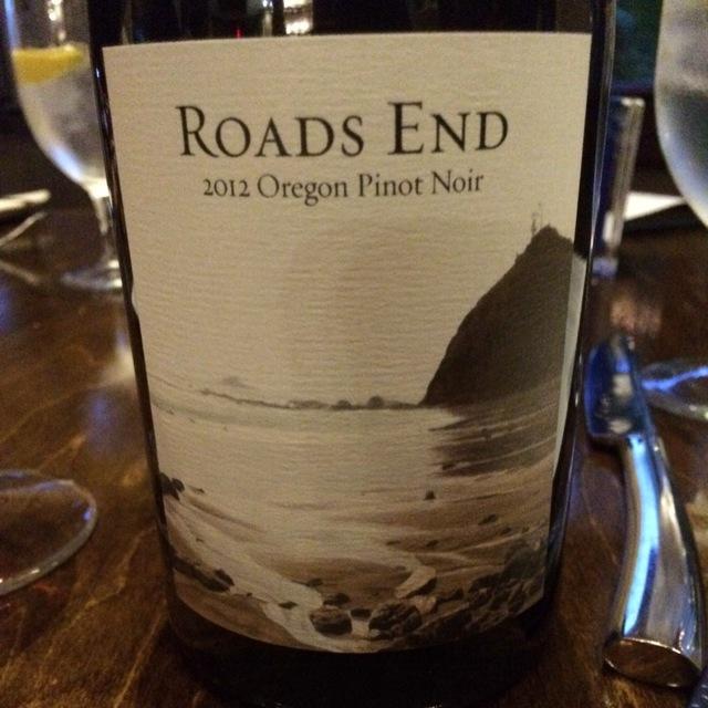 Roads End Oregon Pinot Noir 2012