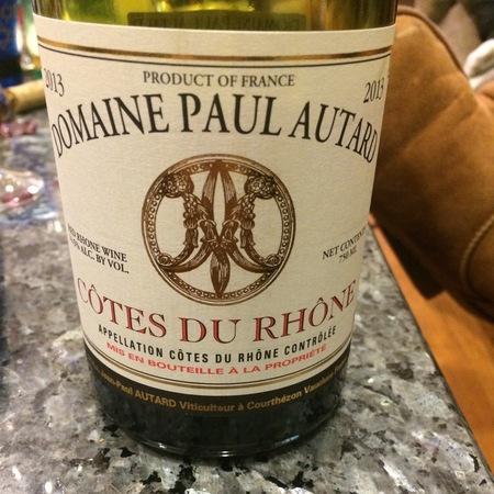 Domaine Paul Autard Côtes du Rhône Red Rhône Blend 2016