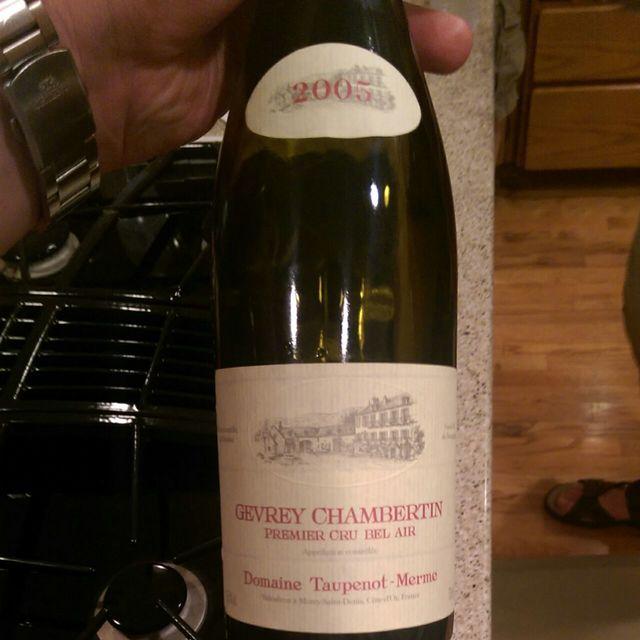 Bel-Air Gevrey-Chambertin 1er Cru Pinot Noir 2005