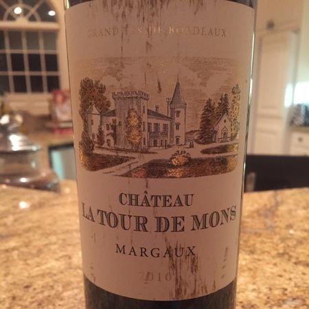 Château La Tour de Mons Margaux Red Bordeaux Blend  2010