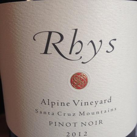 Rhys Vineyards Alpine Vineyard Pinot Noir 2012