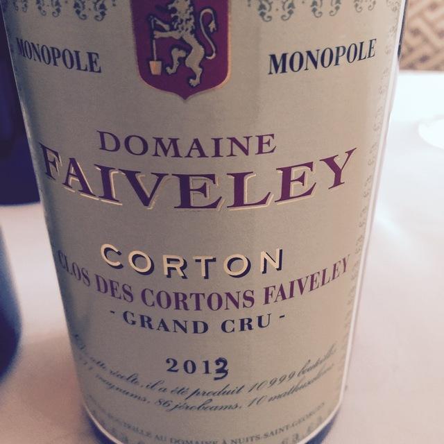 Clos des Cortons Faiveley Monopole  Grand Cru Pinot Noir 2013
