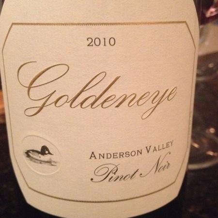 Goldeneye (Duckhorn Vineyards) Anderson Valley Pinot Noir  2010