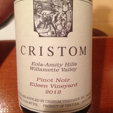 Cristom Jessie Vineyard Eola-Amity Hills Pinot Noir 2012