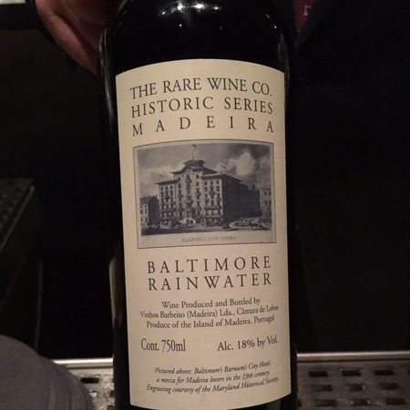 Vinhos Barbeito Rare Wine Co. Historic Series Baltimore Rainwater Madeira Boal NV