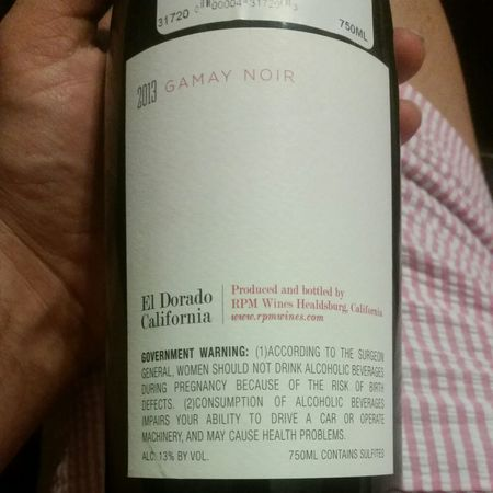 RPM Wines El Dorado Gamay Noir 2014 (1500ml)