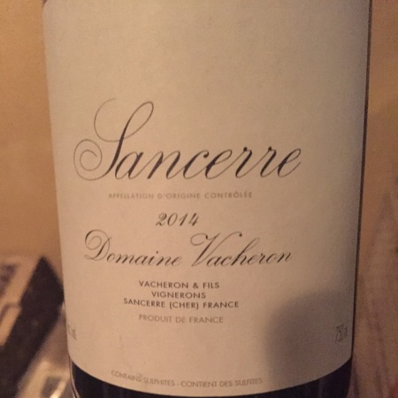 Domaine Vacheron Les Romains Sancerre Sauvignon Blanc 2014