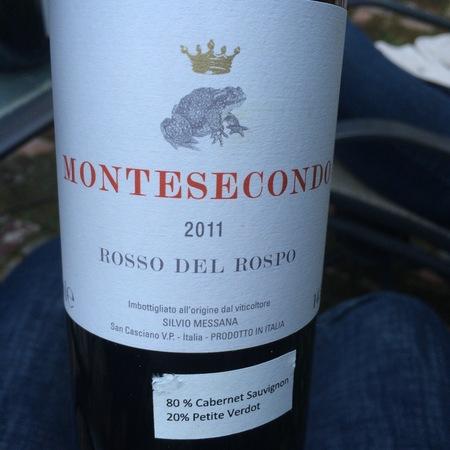 Azienda Agricola Montesecondo  Rosso Del Rospo Cabernet Sauvignon Petite Verdot 2015