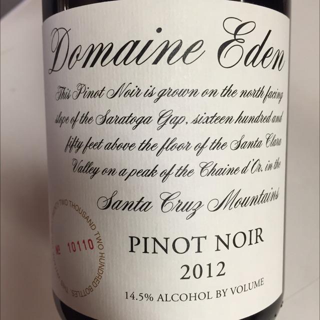 Domaine Eden Santa Cruz Mountains Pinot Noir 2013