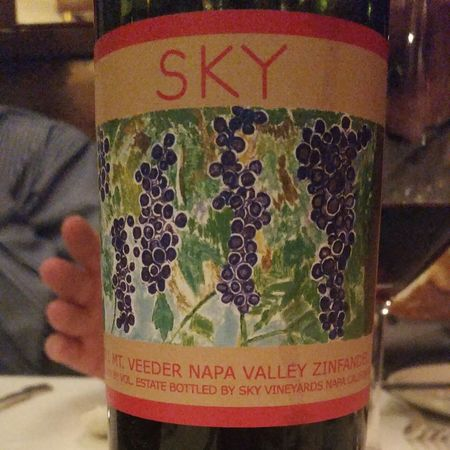 Sky Vineyards Estate Bottled Mt. Veeder Zinfandel 2013