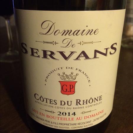 Domaine de Servans Côtes du Rhône 2016
