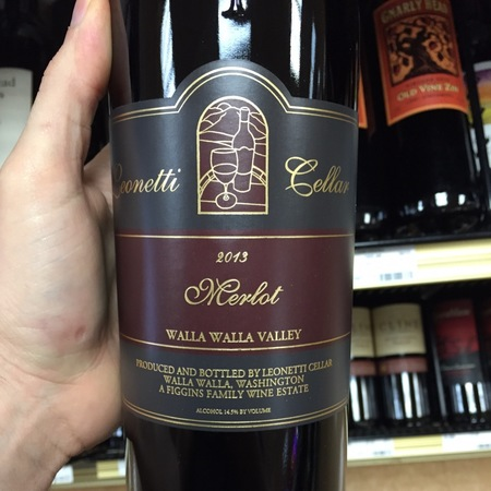 Leonetti Cellar Walla Walla Valley Merlot 2013