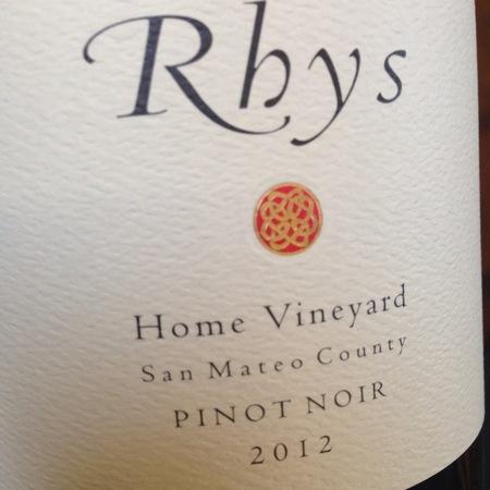 Rhys Vineyards Home Vineyard Pinot Noir 2012