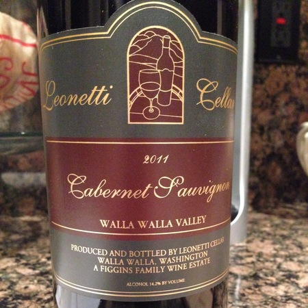 Leonetti Cellar Walla Walla Valley Cabernet Sauvignon 2014