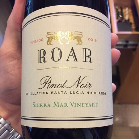 Roar Sierra Mar Vineyard Pinot Noir 2015
