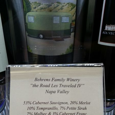 "Behrens Family Winery ""The Road Less Traveled IV"" Napa Valley Cabernet Sauvignon Blend  NV"