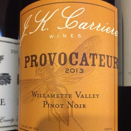 J.K. Carriere Provocateur Willamette Valley Pinot Noir 2013