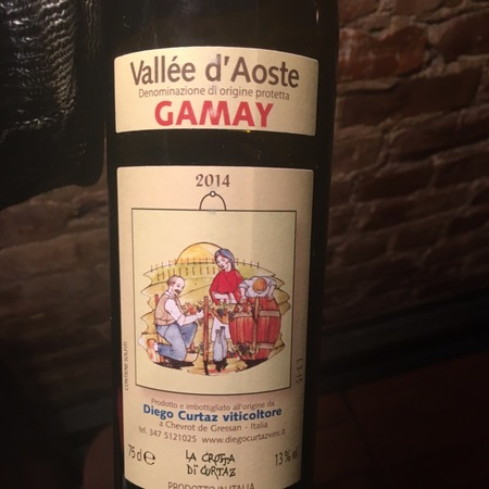 Diego Curtaz Vallée d'Aoste Gamay 2014