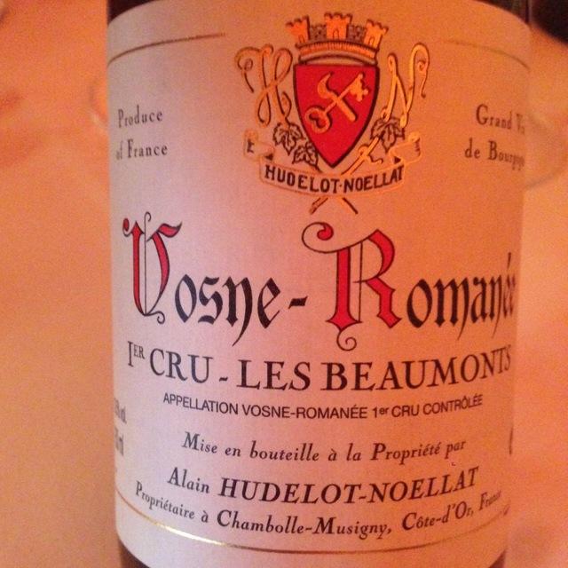 Les Beaumonts Vosne-Romanée 1er Cru Pinot Noir 2014