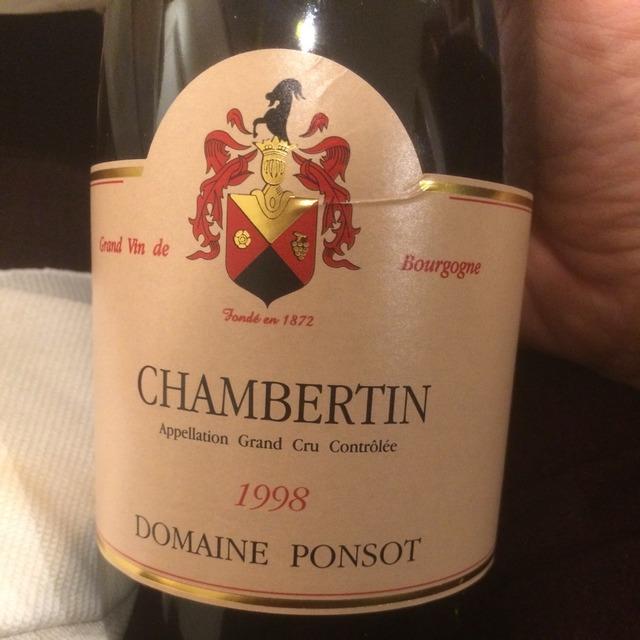 Chambertin Grand Cru Pinot Noir 1998