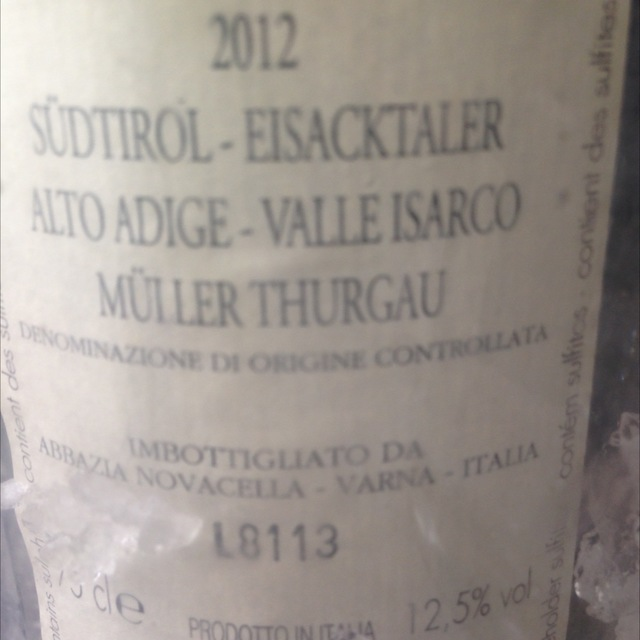Valle Isarco Müller-Thurgau 2013