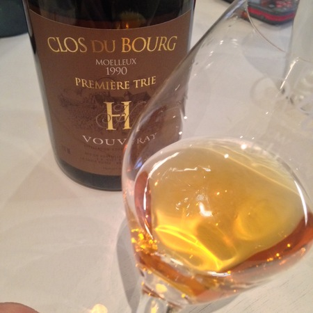 Domaine Huet Clos du Bourg Première Trie Moelleux Vouvray Chenin Blanc 1990