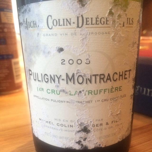 La Truffière Puligny-Montrachet 1er Cru Chardonnay 2003
