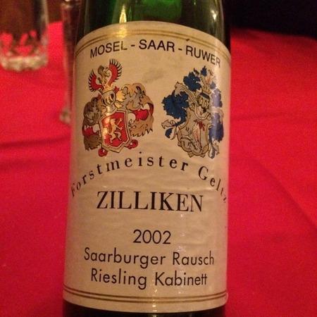 Weingut Forstmeister Geltz Zilliken  Saarburger Rausch Kabinett Riesling 2002