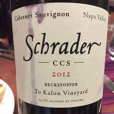 Schrader Cellars CCS Beckstoffer To Kalon Vineyard  Cabernet Sauvignon 2013