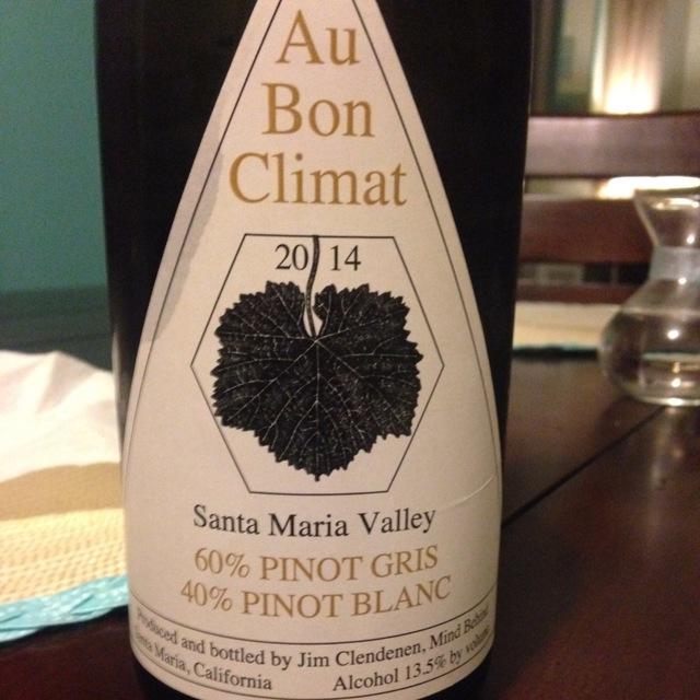 Santa Maria Valley Pinot Gris Pinot Blanc 2014