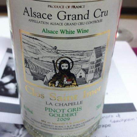 Domaine Ernest Burn  La Chapelle Goldert Clos Saint Imer Alsace Grand Cru Pinot Gris  2001