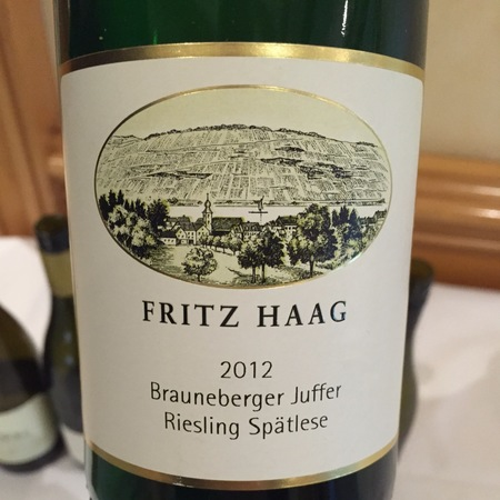Fritz Haag Brauneberger Juffer Spätlese Riesling  2015
