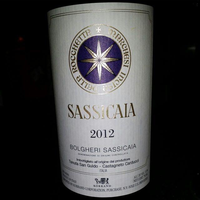 Bolgheri Sassicaia Cabernet Sauvignon Cabernet Franc 2012