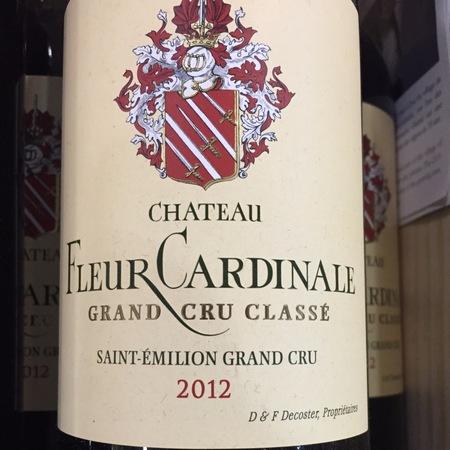 Château Fleur Cardinale Saint-Émilion Red Bordeaux Blend 2012