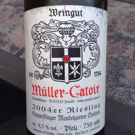 Müller-Catoir Gimmeldinger Mandelgarten Spätlese Riesling 2004