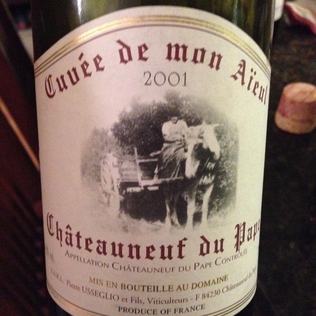 Cuvée De Mon Aïeul Châteauneuf-du-Pape Red Rhone Blend 2001 (1500ml)