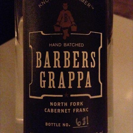 Barbers Grappa North Fork Cabernet Franc NV (375ml)