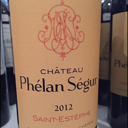 Château Phélan Ségur Saint-Estèphe Red Bordeaux Blend   2012