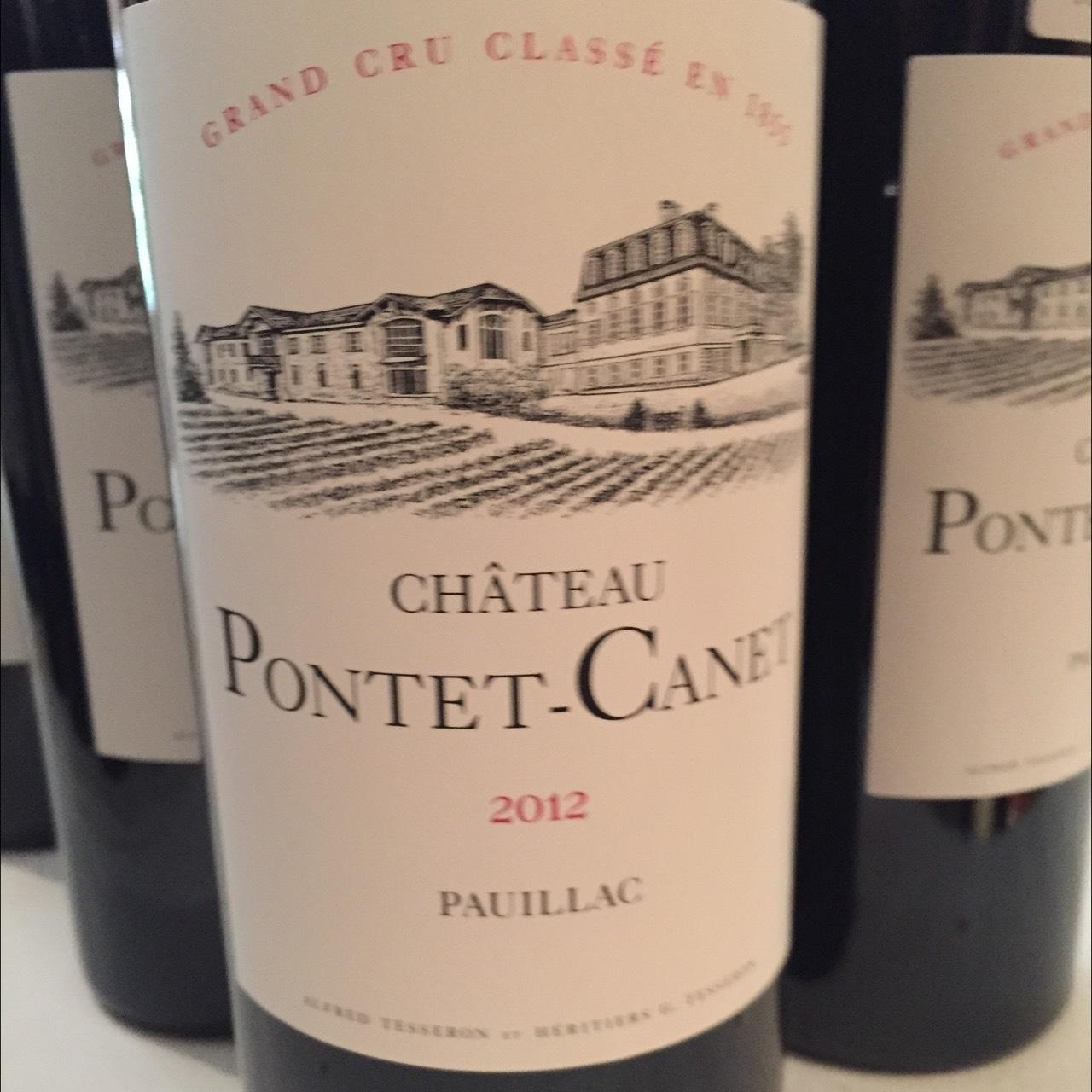 Château Pontet-Canet Pauillac Red Bordeaux Blend 2012