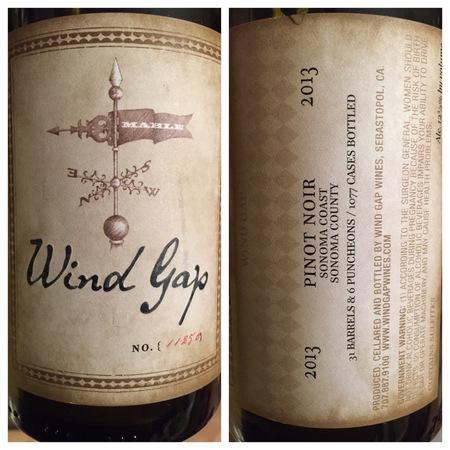 Wind Gap Wines Sonoma Coast Pinot Noir 2013