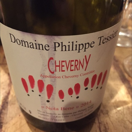 Domaine Philippe Tessier Nota Bene Cheverny Red Blend 2014