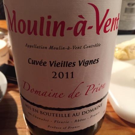Domaine de Prion Cuvée Vieilles Vignes Moulin-à-Vent Pinot Noir 2014