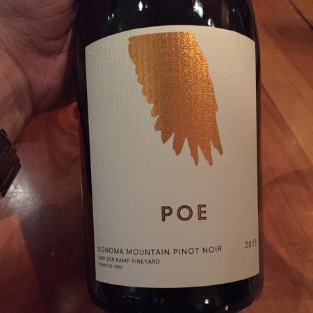 Poe Wines Van der Kamp Vineyard Pinot Noir 2013