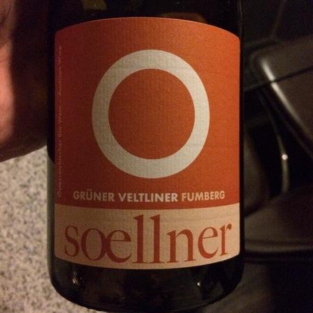 Soellner Fumberg Grüner Veltliner 2013