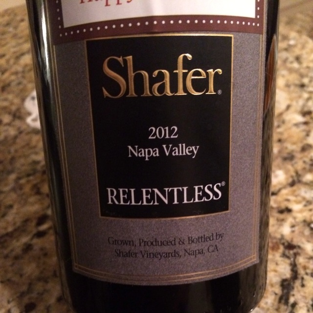 Relentless Napa Valley Syrah Petite Sirah 2012