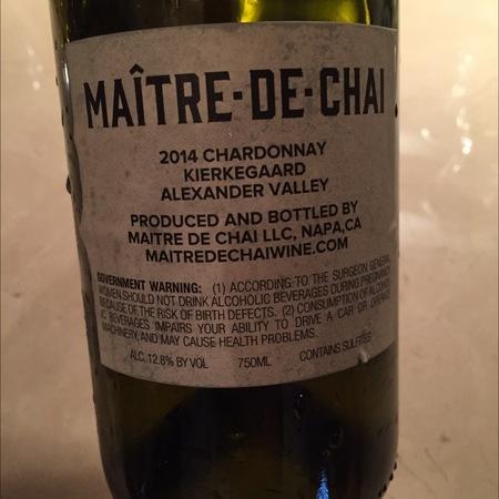 Maître de Chai Kierkegaard Chardonnay 2014