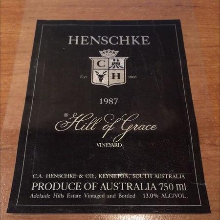 Henschke Hill of Grace Vineyard Shiraz 1987
