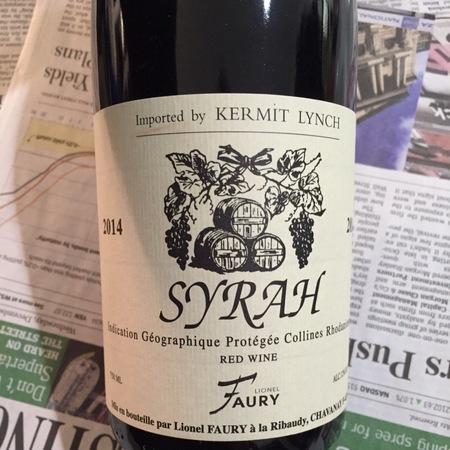 Domaine Faury Saint Joseph Syrah 2014
